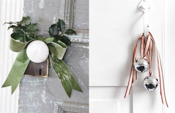 Laços de fita decorativos para o Natal 007