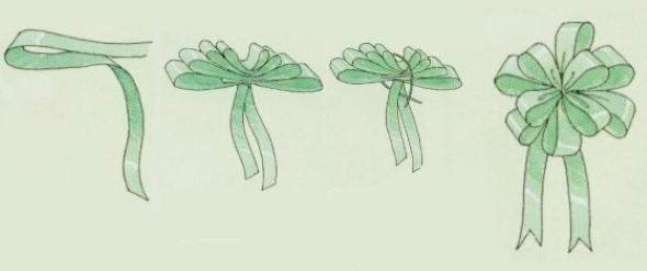 Laços de fita decorativos para o Natal 010