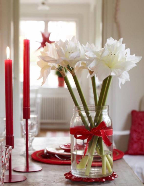 Laços de fita decorativos para o Natal 013