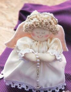 Anjinho de tecido – Decoração de Natal 001