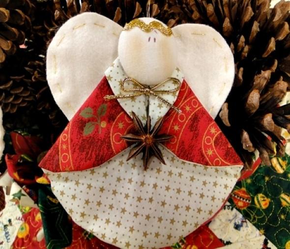 Anjinho de tecido – Decoração de Natal 002