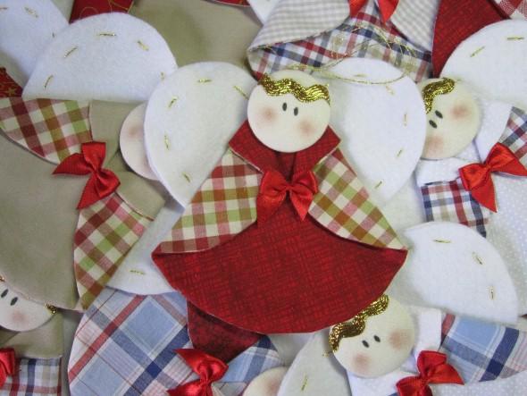 Anjinho de tecido – Decoração de Natal 003