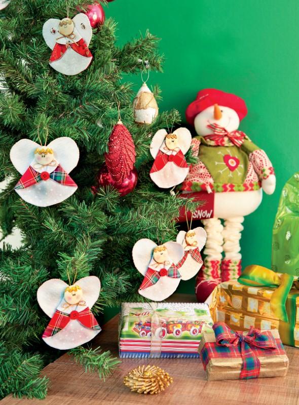Anjinho de tecido – Decoração de Natal 005