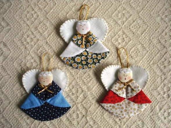 Anjinho de tecido – Decoração de Natal 010