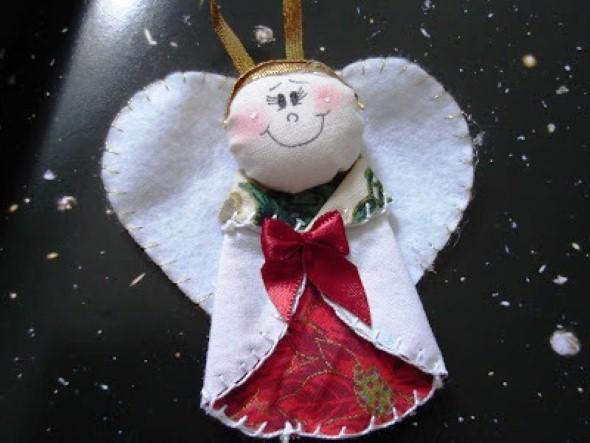 Anjinho de tecido – Decoração de Natal 011