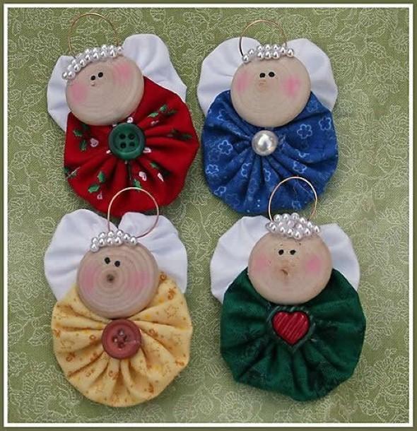 Anjinho de tecido – Decoração de Natal 012