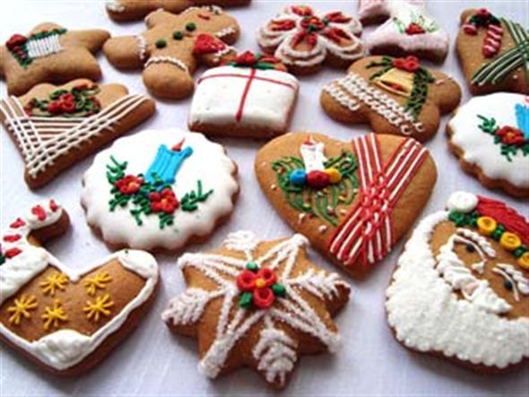 Biscoitos decorados para o natal 001