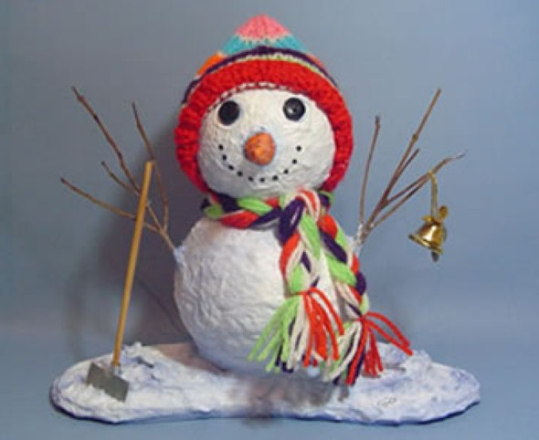 Como fazer boneco de neve 004