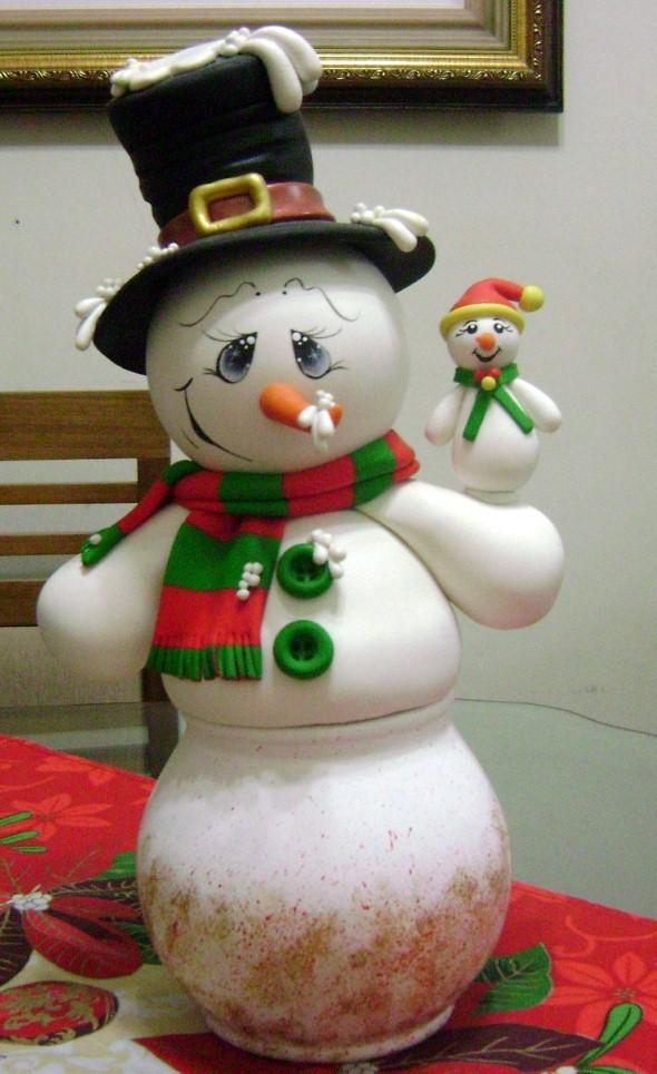 Como fazer boneco de neve 008