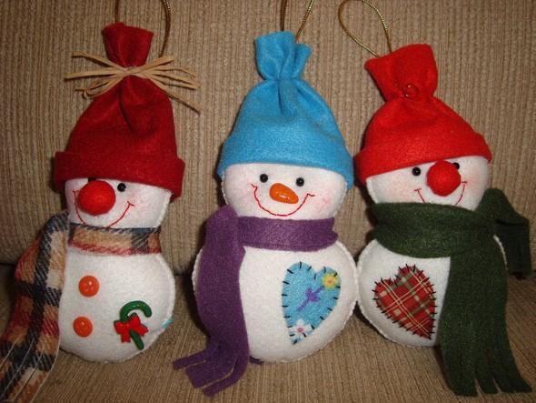Como fazer boneco de neve 010