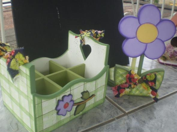 Porta talheres artesanal em MDF 003
