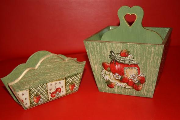 Porta talheres artesanal em MDF 012