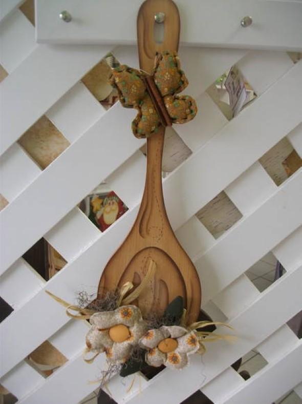 Colher de pau decorada 005