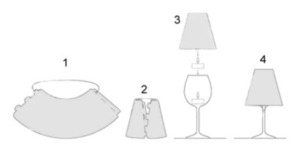 Como fazer uma luminária com taça de vidro 002