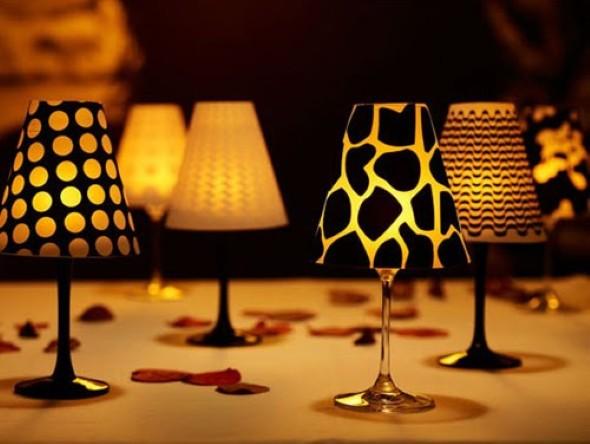 Como fazer uma luminária com taça de vidro 006