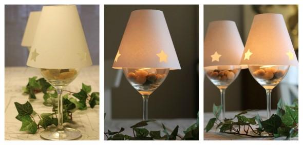 Como fazer uma luminária com taça de vidro 009