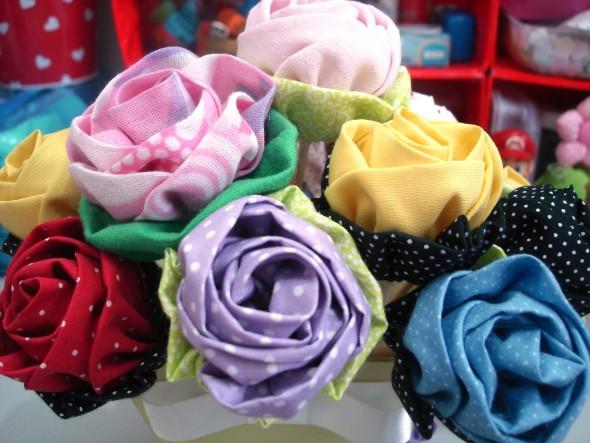 Flor de tecido - Modelos e como fazer 008