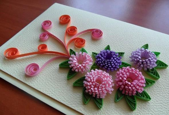 Flores artesanais de quilling 006