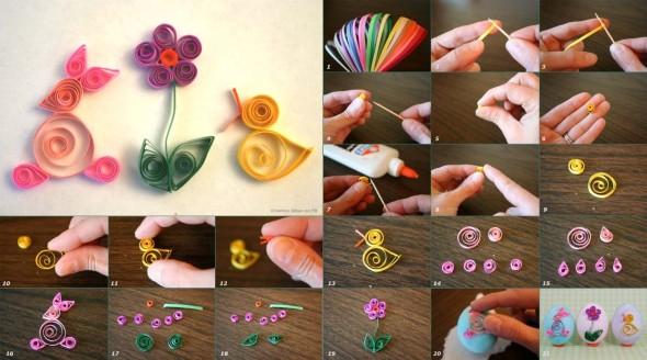 Flores artesanais de quilling 007