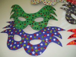 Máscara de carnaval em EVA 001