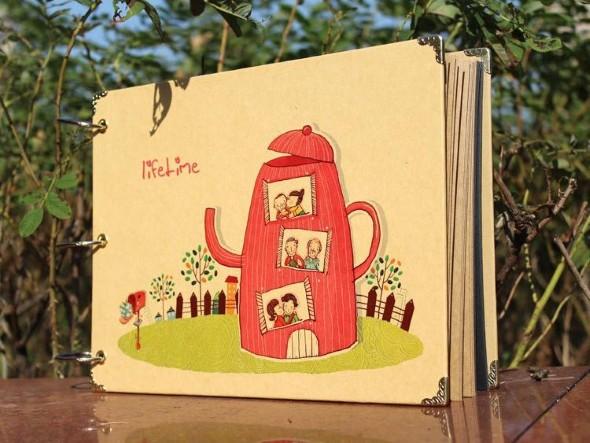 Álbum de fotos do bebê em Scrapbook 010
