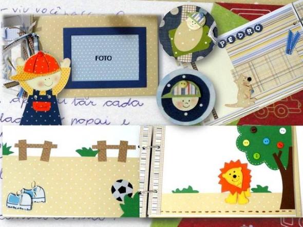 Álbum de fotos do bebê em Scrapbook 011