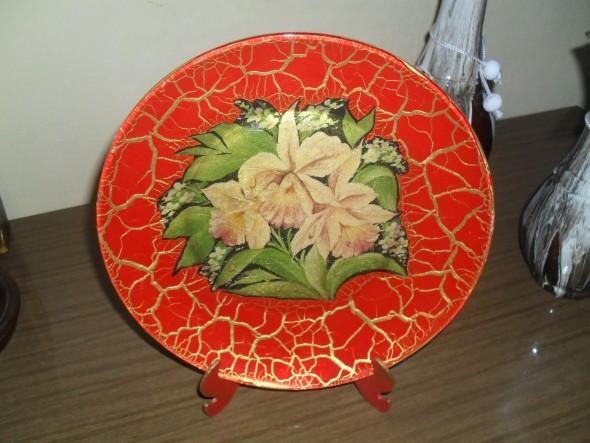 Como pintar pratos decorativos 002