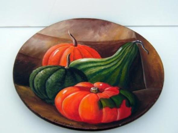 Como pintar pratos decorativos 005