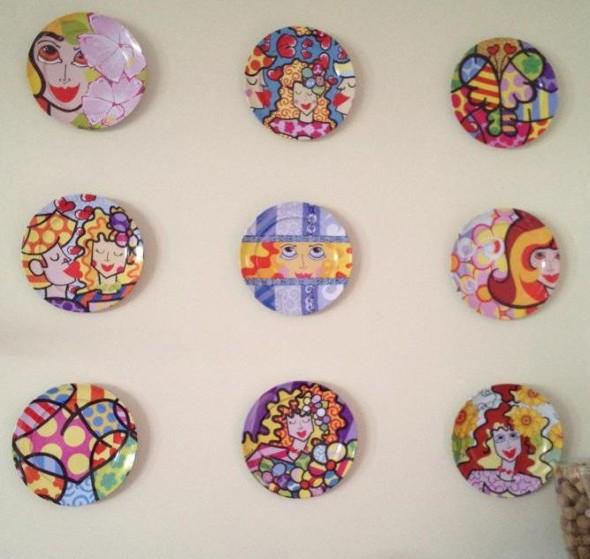 Como pintar pratos decorativos 006