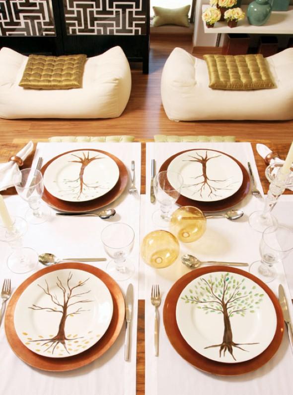 Como pintar pratos decorativos 008