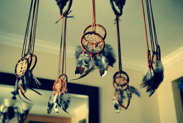 Filtro dos sonhos artesanal 011