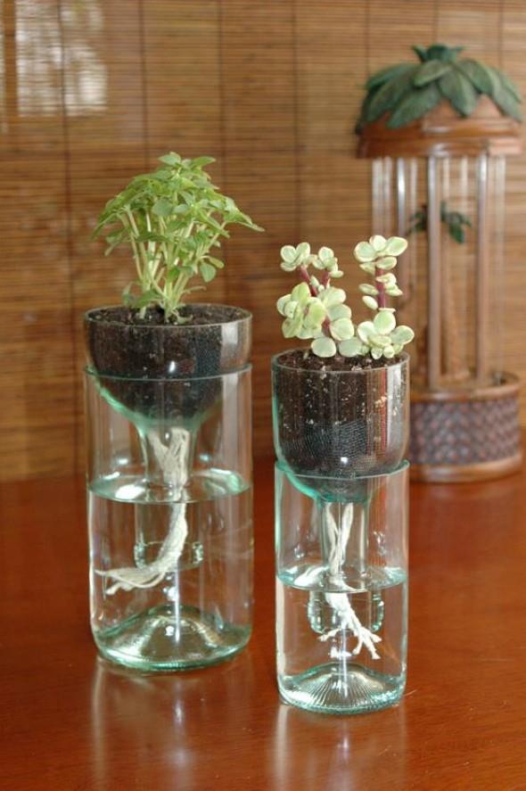 Garrafas de vidro no artesanato 003