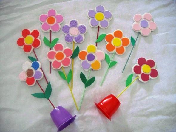 Idéias criativas de artesanato em EVA 009