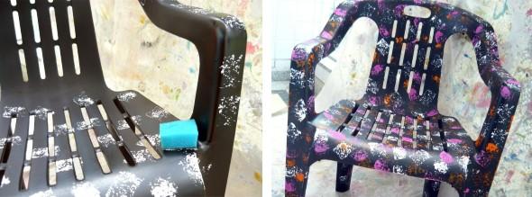Personalizar cadeiras de plástico antigas 004