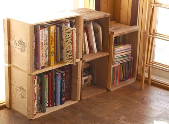 Porta livros artesanal 004