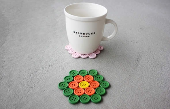 Artesanato com botões 004