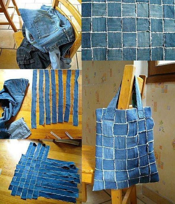 Artesanato com jeans usado 010