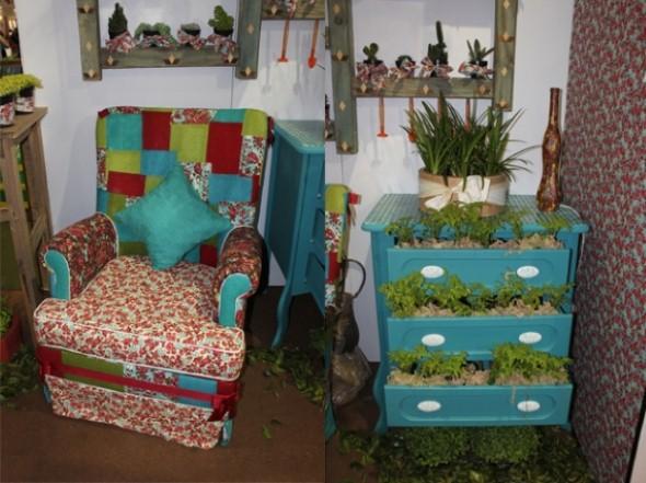 Objetos artesanais na varanda 003