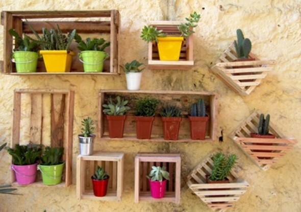 Objetos artesanais na varanda 004