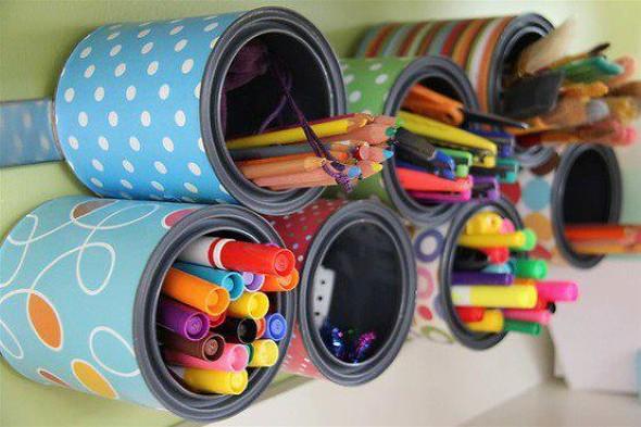 Porta canetas de material reciclado 007