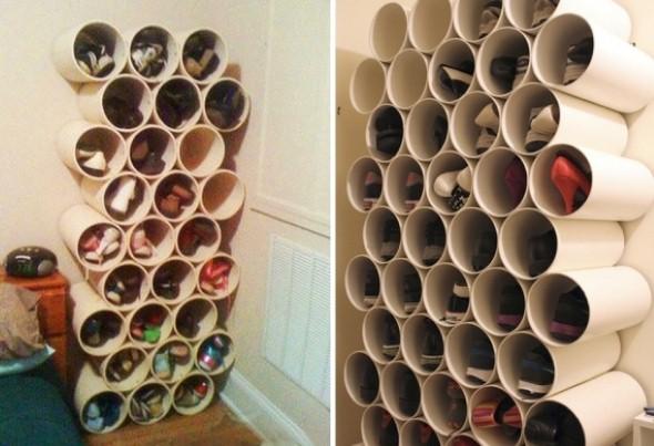 Reciclando tubos de PVC com artesanato 005