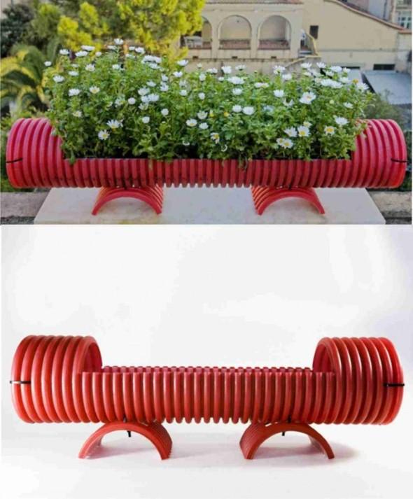 Reciclando tubos de PVC com artesanato 007
