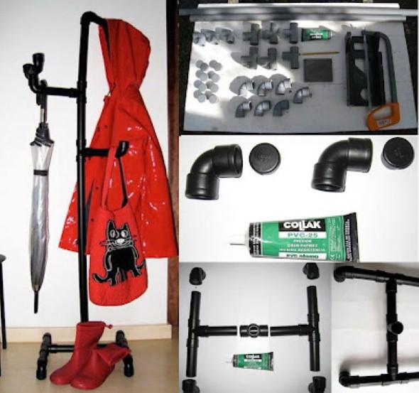 Reciclando tubos de PVC com artesanato 008