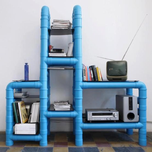 Reciclando tubos de PVC com artesanato 010