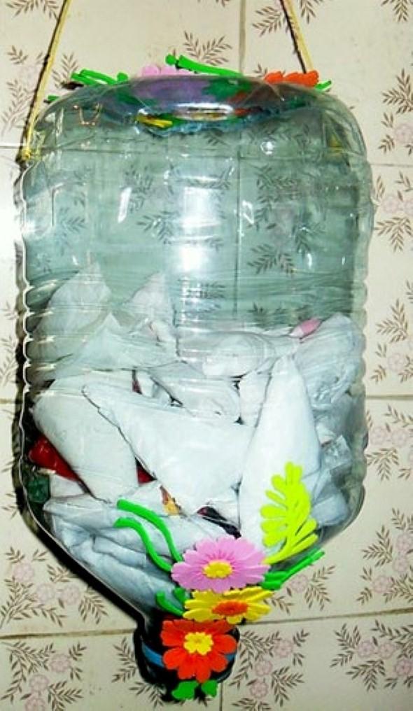 Artesanato com galões de água 002