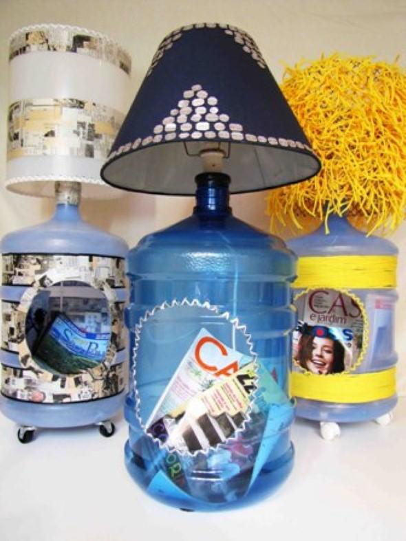 Artesanato com galões de água 008