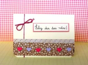 Cartão artesanal para o Dia das Mães 001