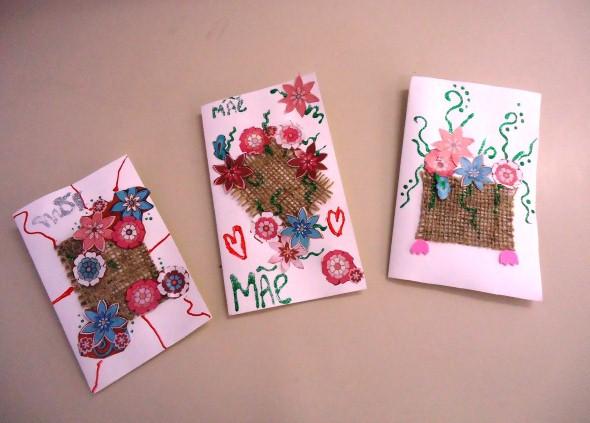 Cartão artesanal para o Dia das Mães 003