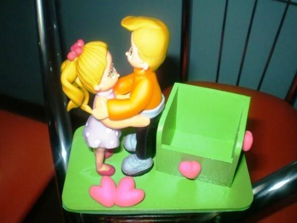 Lembrancinha do Dia dos Namorados em Biscuit 012