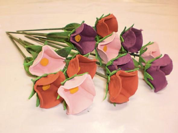 Flores de caixa de ovos 007